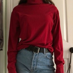 Sweaters - Vintage Red Turtle neck